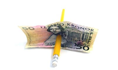 Pencil thru Borrowed Banknote