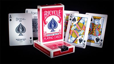 Bicycle Poker Rider Back 807, red