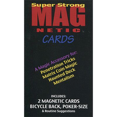 Magnetic Cards (2) red + blue