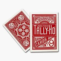 Tally Ho Fan Back red