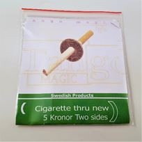 Cigarette thru 5 kr
