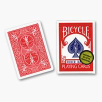 Bicycle Poker, Gold Seal, red