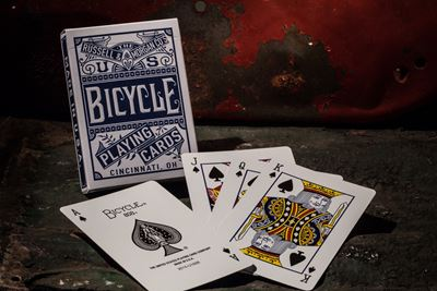Bicycle Poker, Chainless -blue