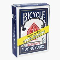 Bicycle Poker, plastic /blue